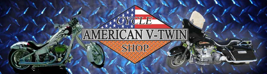 American V-Twin Cycle Shop, Beaumont, CA, Banner with Logo